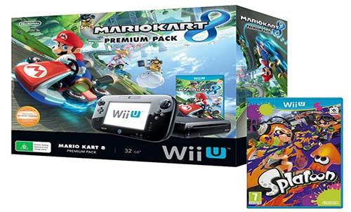 Nintendo Wii U Premium Pack 32Gb + Mario Kart 8 + Splatoon - Oferlandia.com