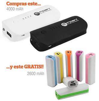Power Bank 4000mAh + 2600mAh de regalo - Oferlandia.com