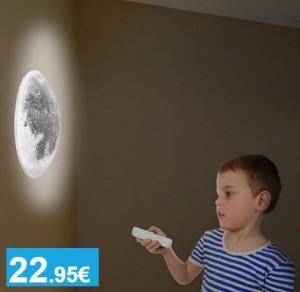 Lámpara pared con forma de Luna - Oferlandia.com