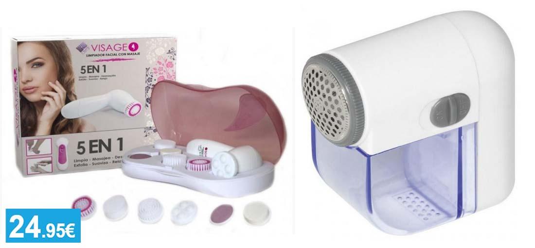 Cepillo Limpiador Facial 5 en 1 + Quitapelusas eléctrico - Oferlandia.com
