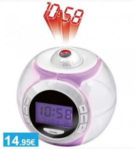 Reloj despertador con proyector LED - Oferlandia.com