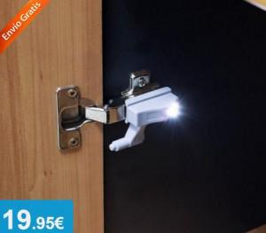 Pack 4 x Luz LED para bisagras de armario - Oferlandia.com