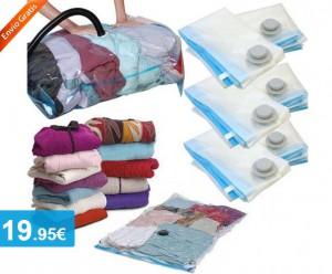 Pack 6x bolsas guardarropa al vacío - Oferlandia.com