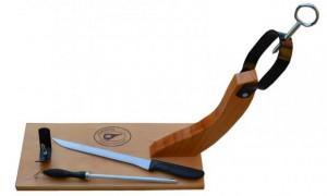 Jamonero + Cuchillo 25cm + Afilador 20cm - Oferlandia.com