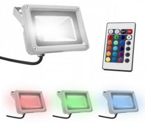 Foco LED exterior RGB con mando - Oferlandia.com